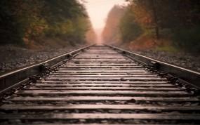 Обои Железная дорога: Дорога, Макро, Пейзаж, Прочие пейзажи