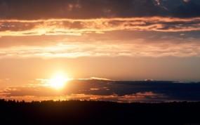 Обои Идеальный закат: Солнце, Закат, Небо, Природа