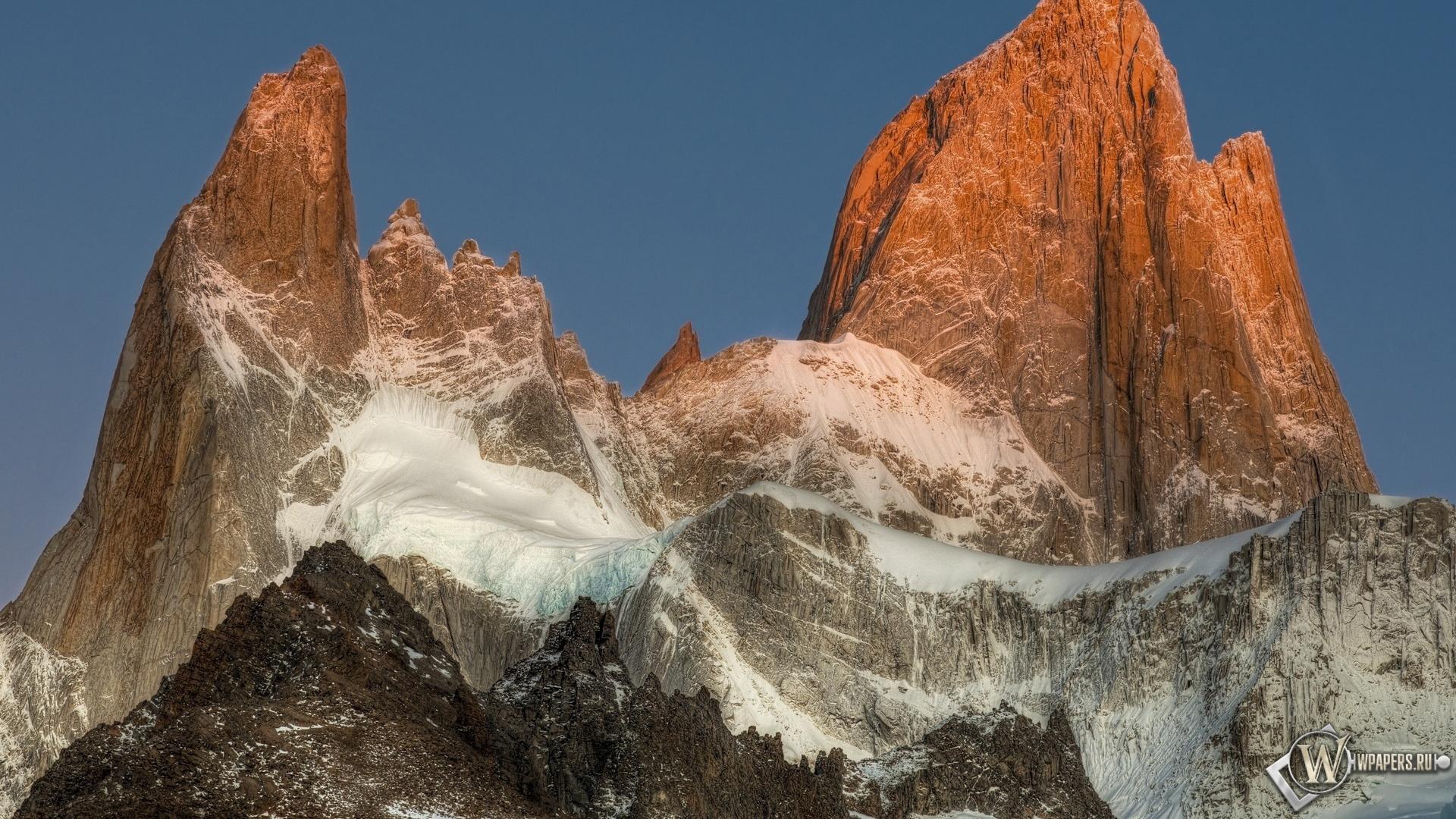 Обои анды горы снег вершина 1920x1080