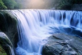 Обои Водопад: Река, Вода, Камни, Водопад, Природа