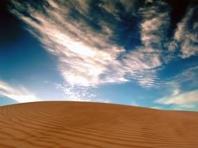 Обои Небо над пустыней: Пустыня, Песок, Небо, Природа