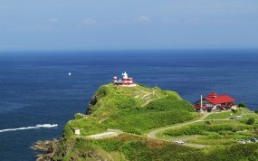 Обои Хоккайдо Япония: Море, Япония, Маяк, Даль, хоккайдо, Природа