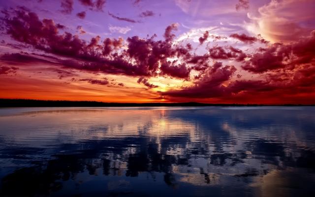 Потрясающий закат