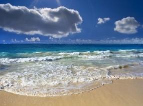 Обои Безмятежный океан: Облака, Волны, Океан, Горизонт, Природа