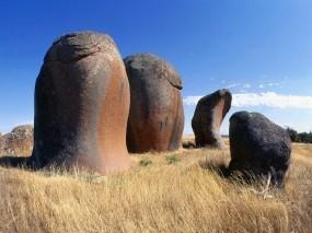 Обои Природа Австралии: Камни, Трава, Небо, Природа