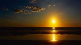 Обои Пляж на закате: Облака, Пляж, Закат, Небо, Прочие пейзажи