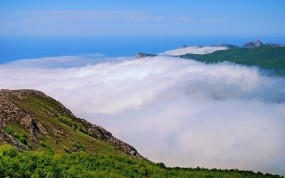 Обои Туман в горах: Облака, Горы, Туман, Горы