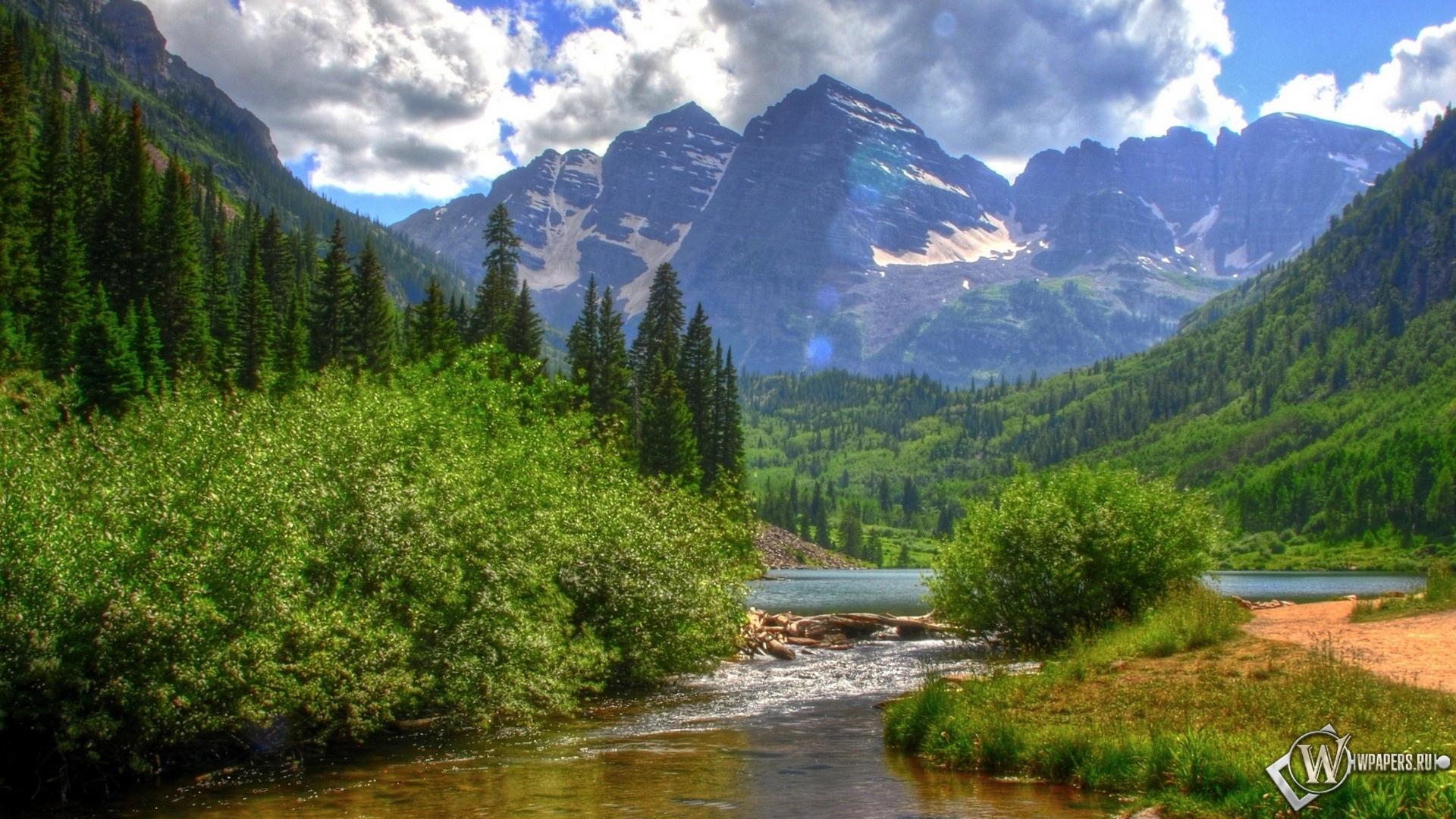 лес и горы фото