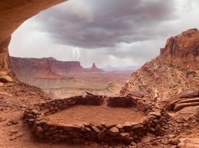 Обои Каньон: Скалы, Каньон, Гроза, Долина, Горы