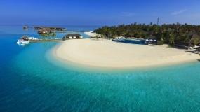 Обои Отель Velassaru Maldives: Пляж, Море, Остров, Небо, Природа
