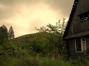 Обои Старый дом: Деревья, Природа, Дом, Природа