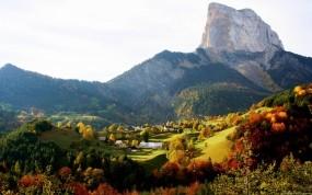 Обои Осень на горе: Осень, Гора, Осень