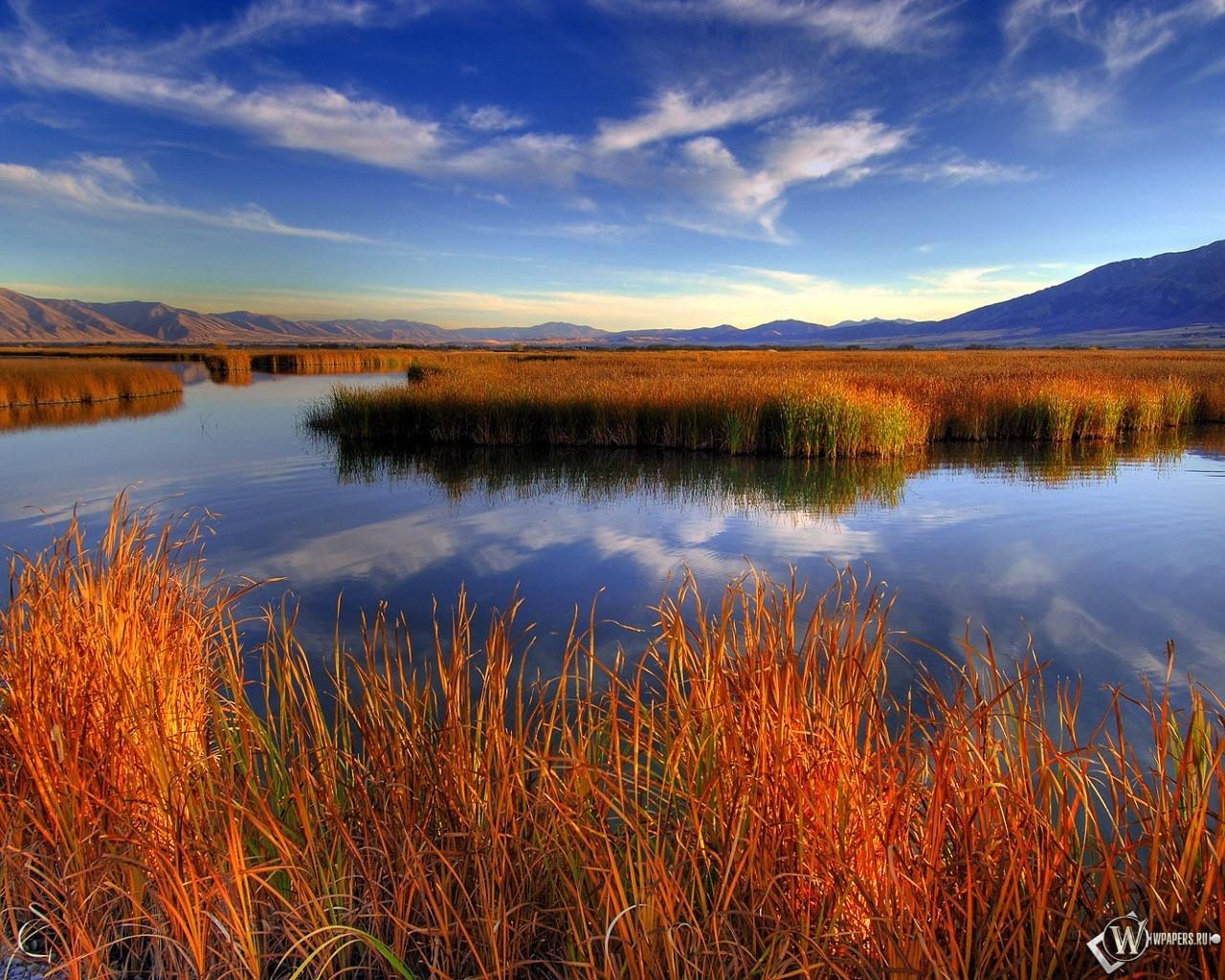 Озеро в  1280x1024