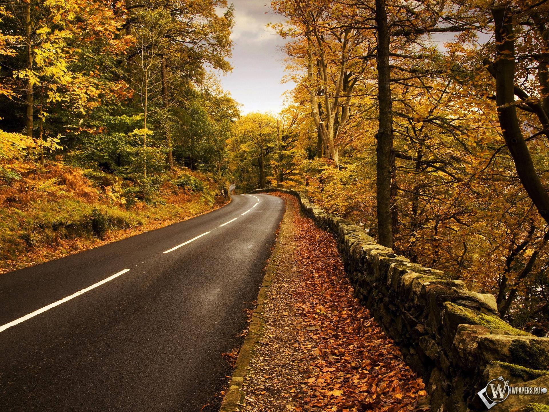 Осенняя дорога 1920x1440