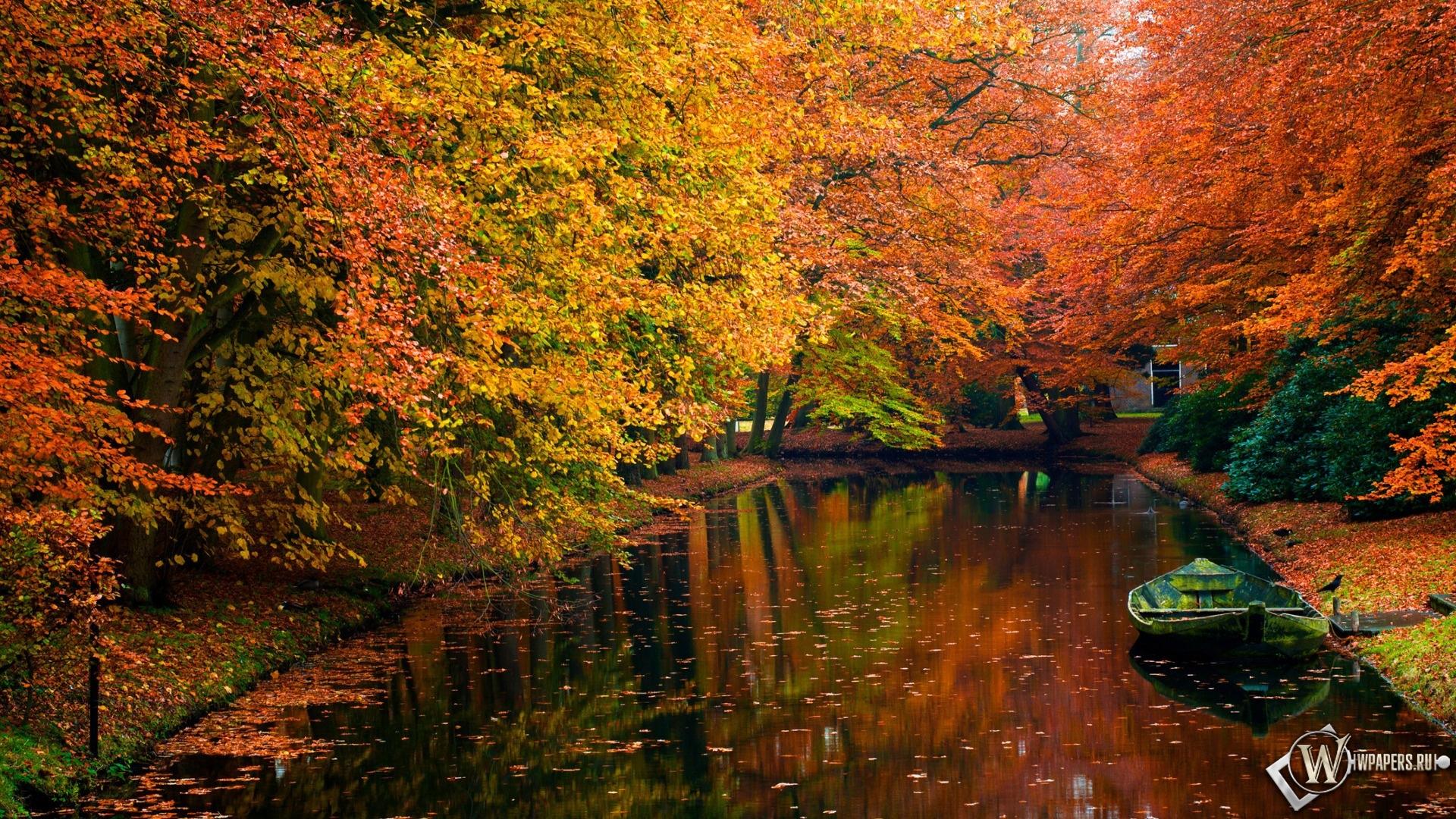 Осенний пруд 1920x1080