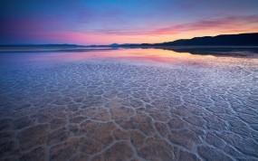 Обои Вода в пустыне: Пустыня, Отражение, Вода, Вечер, Прочие пейзажи