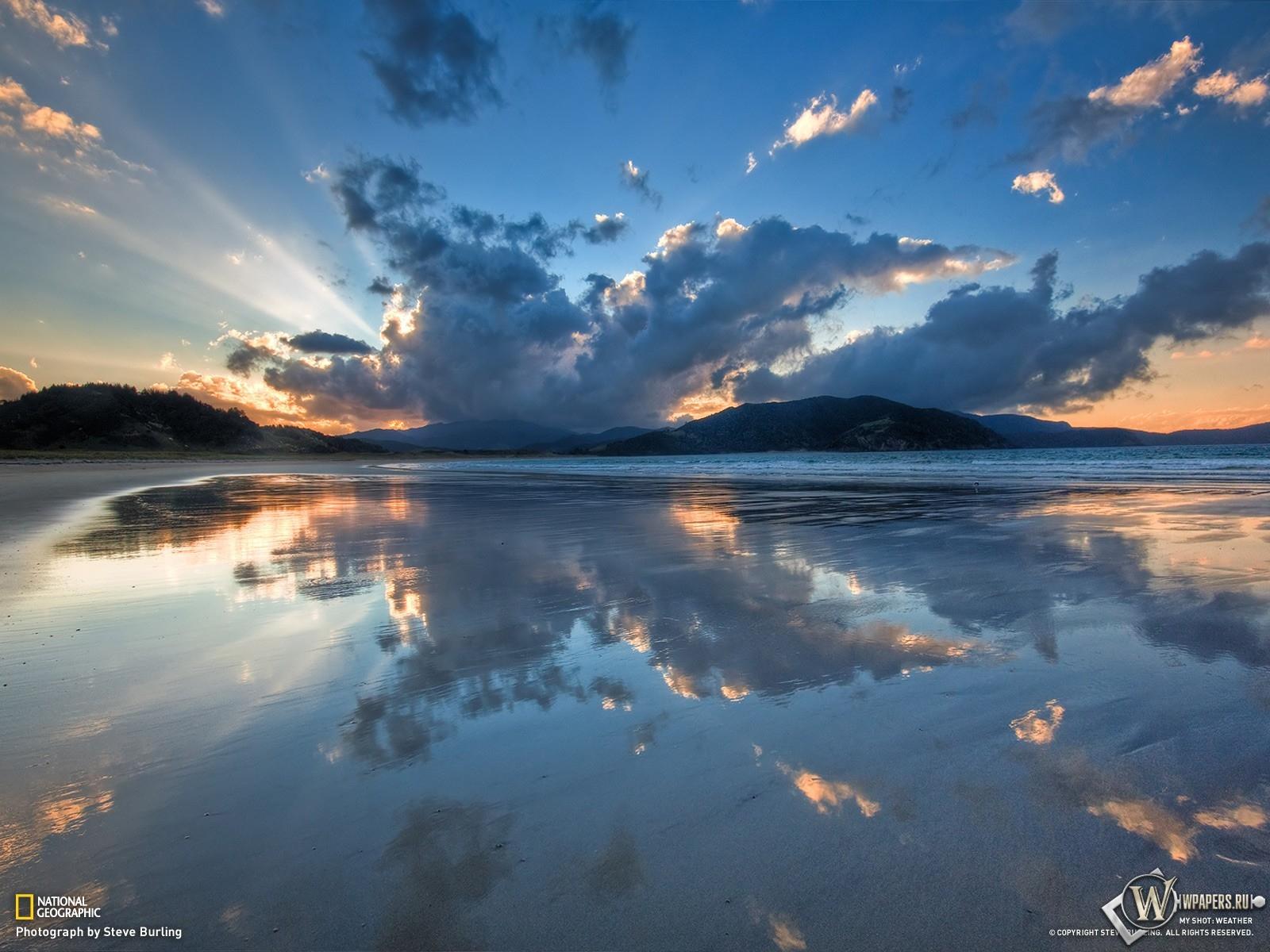 Бухта Waikawau - Новая Зеландия 1600x1200