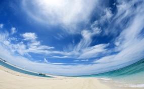 Обои Панорама неба: Облака, Песок, Панорама, Прочие пейзажи