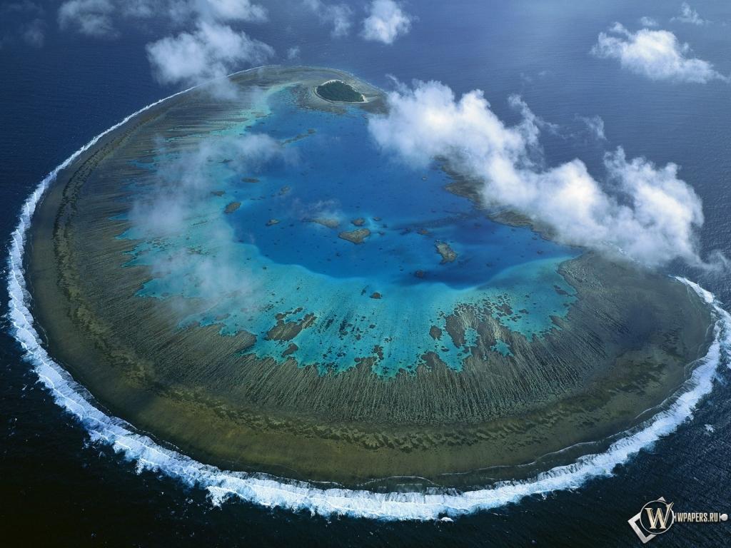 Барьерный риф остров австралия 1024x768