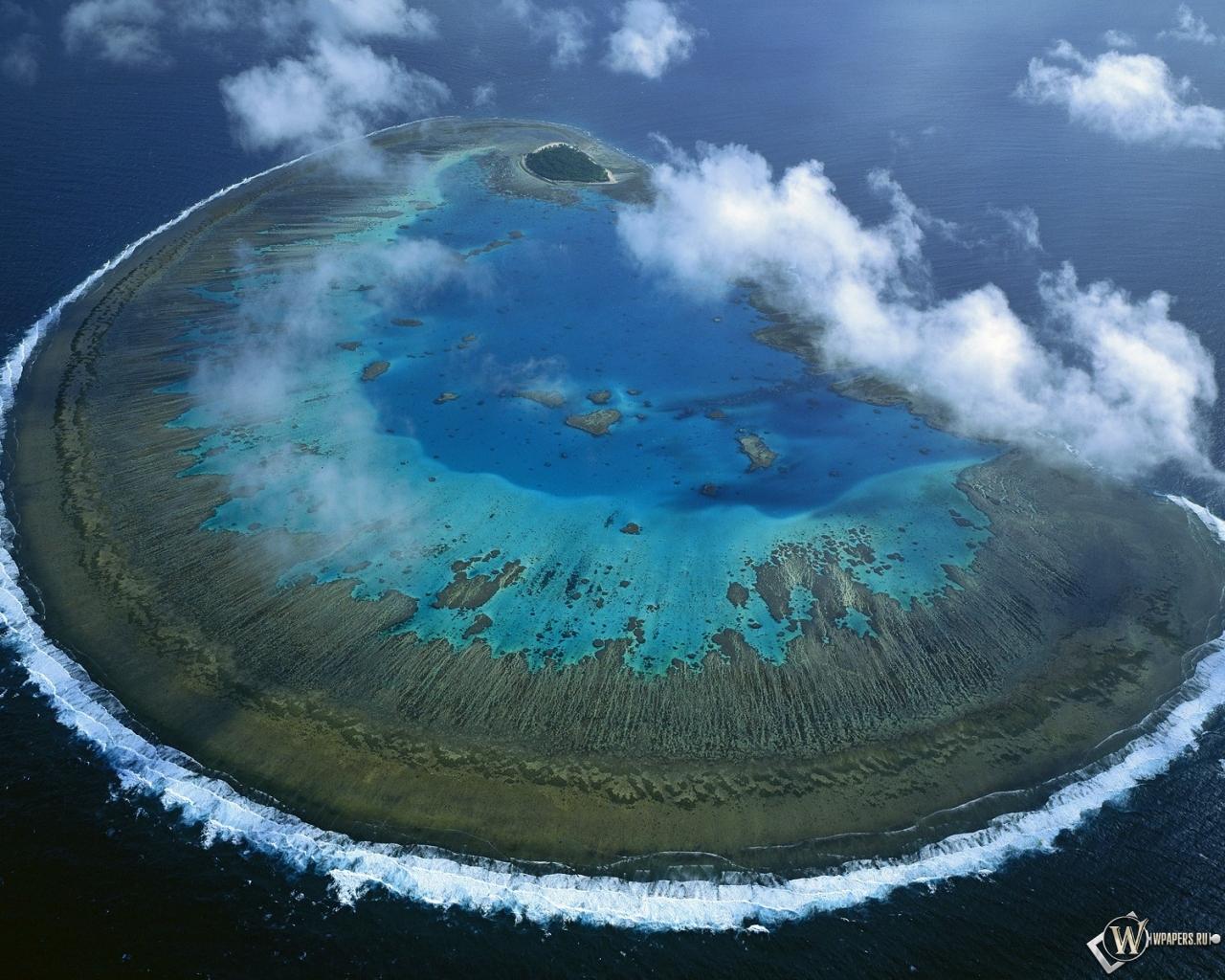 Барьерный риф остров австралия 1280x1024