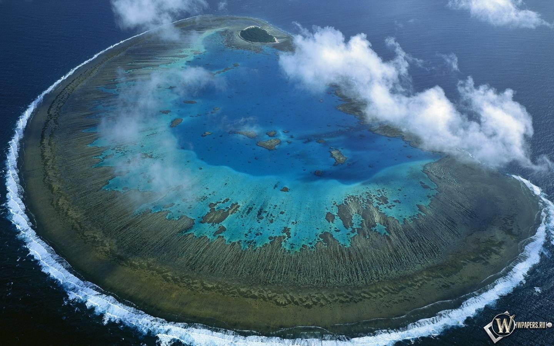 Барьерный риф остров австралия 1440x900