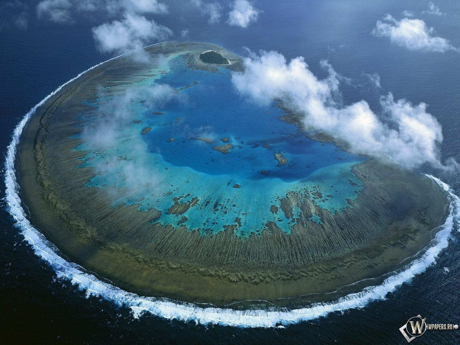 Барьерный риф остров австралия 1600x1200