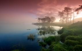 Обои Шотладния: Туман, Озеро, Шотландия, Прочие пейзажи