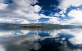 Обои Аляска: Облака, Горы, Вода, Природа, Озеро, Пейзаж, Аляска, Прочие пейзажи
