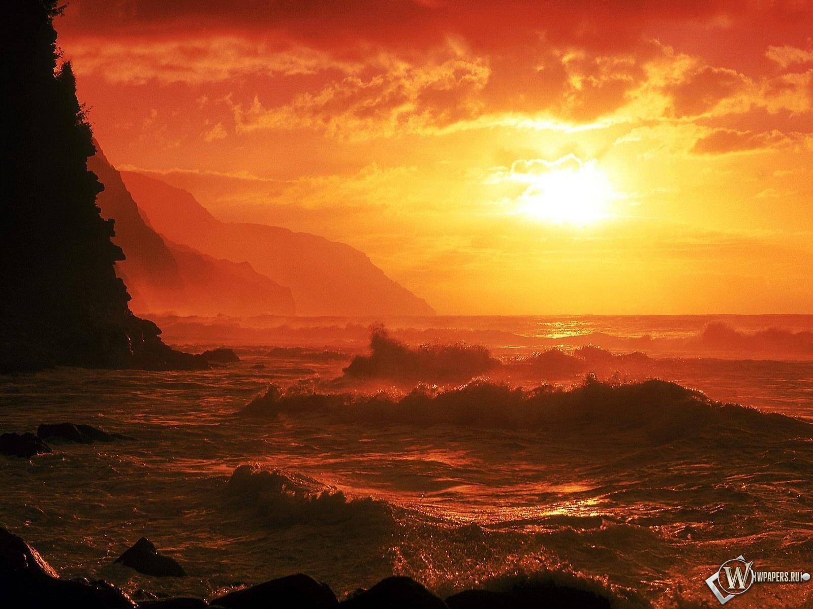 Закат на море 1600x1200