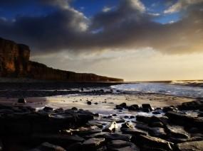 Обои Каменистый берег: Море, Камни, Берег, Вода и небо