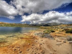 Обои Оазис в пустыне: Вода, Песок, Небо, Оазис, Прочие пейзажи