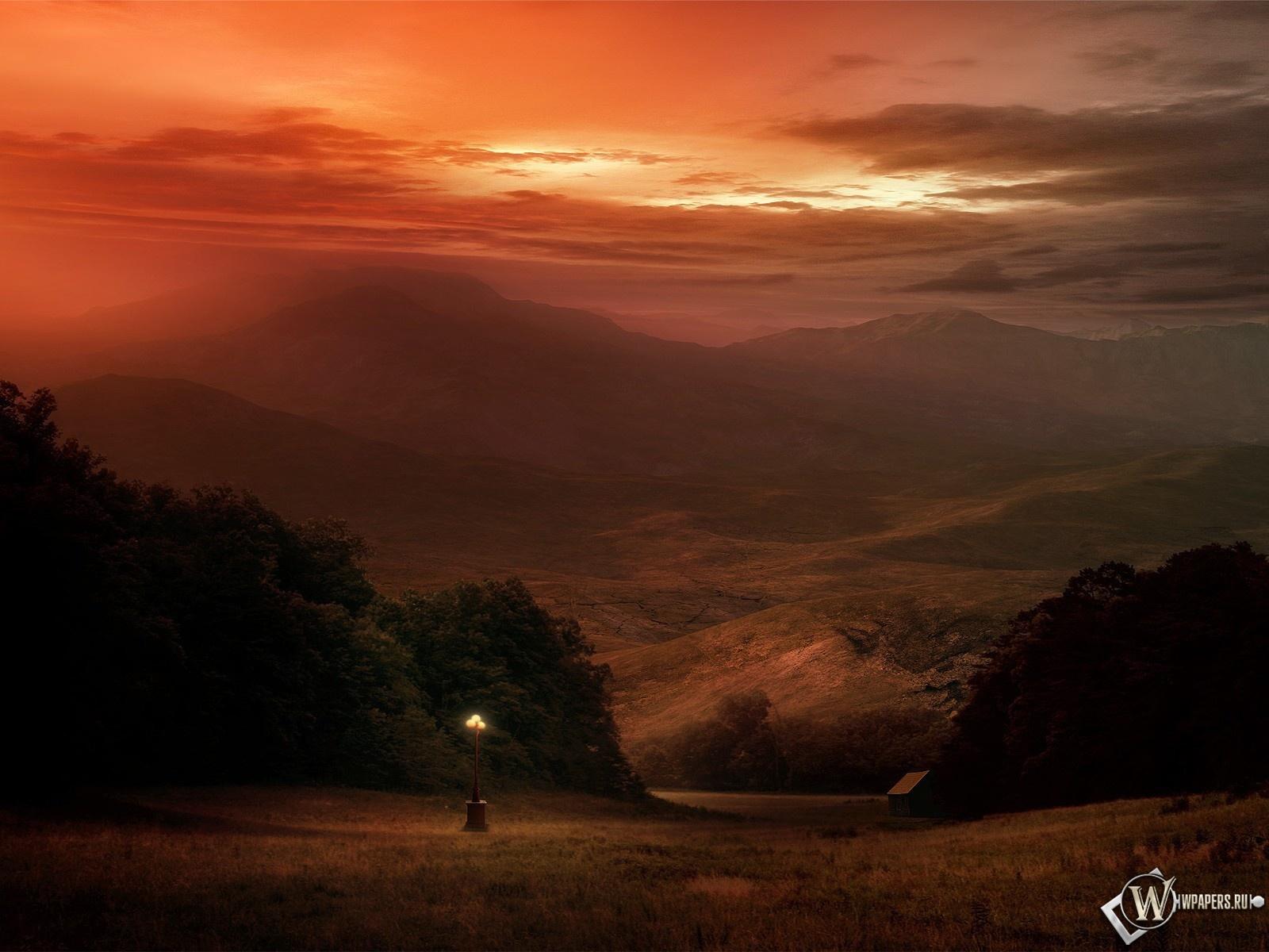 Вечерний пейзаж 1600x1200