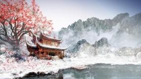 Обои Японский храм: Храм, Япония, Сакура, Прочие пейзажи