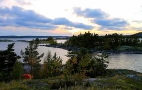 Обои Карелия: Река, Деревья, Небо, Прочие пейзажи