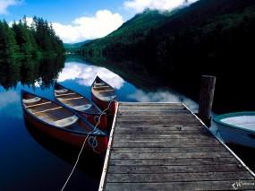 Обои Лодки у пирса: Лодки, Пристань, Пирс, Прочие пейзажи