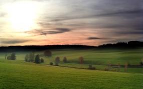 Обои Germany Landscape: Солнце, Поле, Небо, Германия, Прочие пейзажи