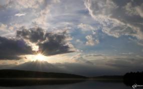 Обои Солнце за облаками: , Природа