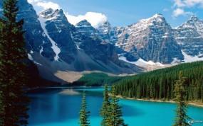Обои Озеро Морейн в Канаде: Озеро, Парк, Канада, Прочие пейзажи