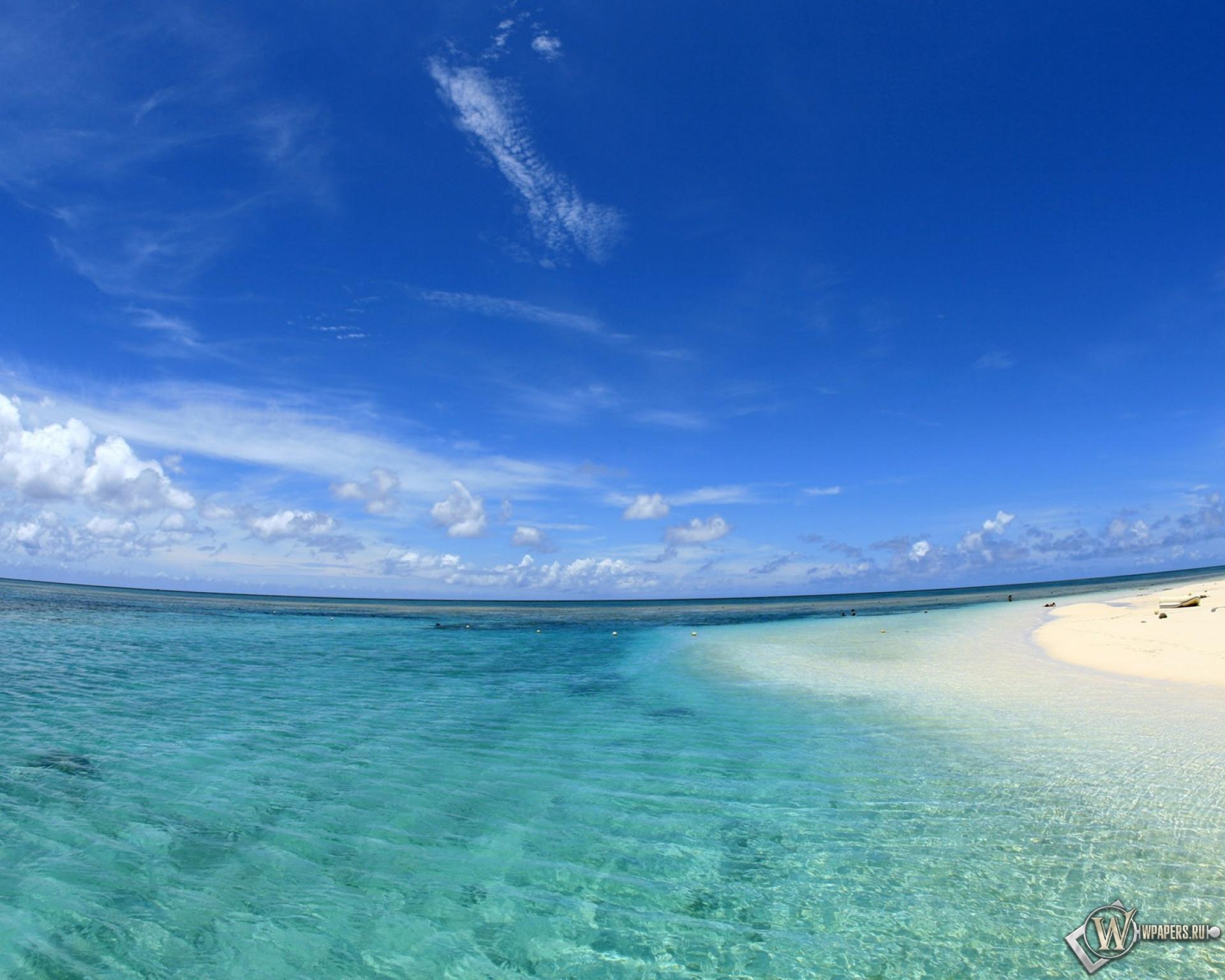 природа море пляж горизонт  № 2472378  скачать