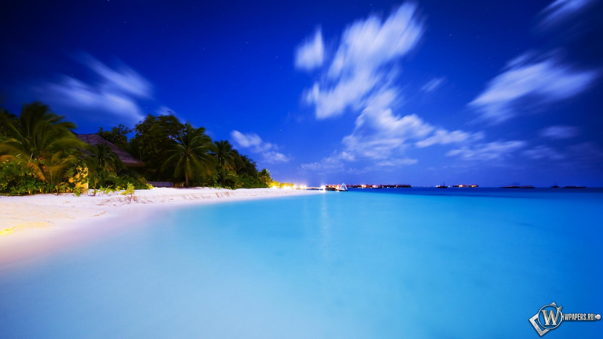Мальдивы облака пляж вода море небо