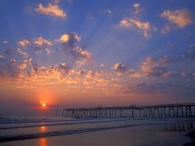 Обои Пляж флориды: Пляж, Причал, Флорида, Прочие пейзажи