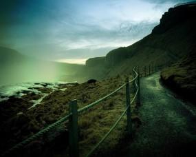 Обои Тропа: Путь, Горы, Тропа, Ограда, Прочие пейзажи