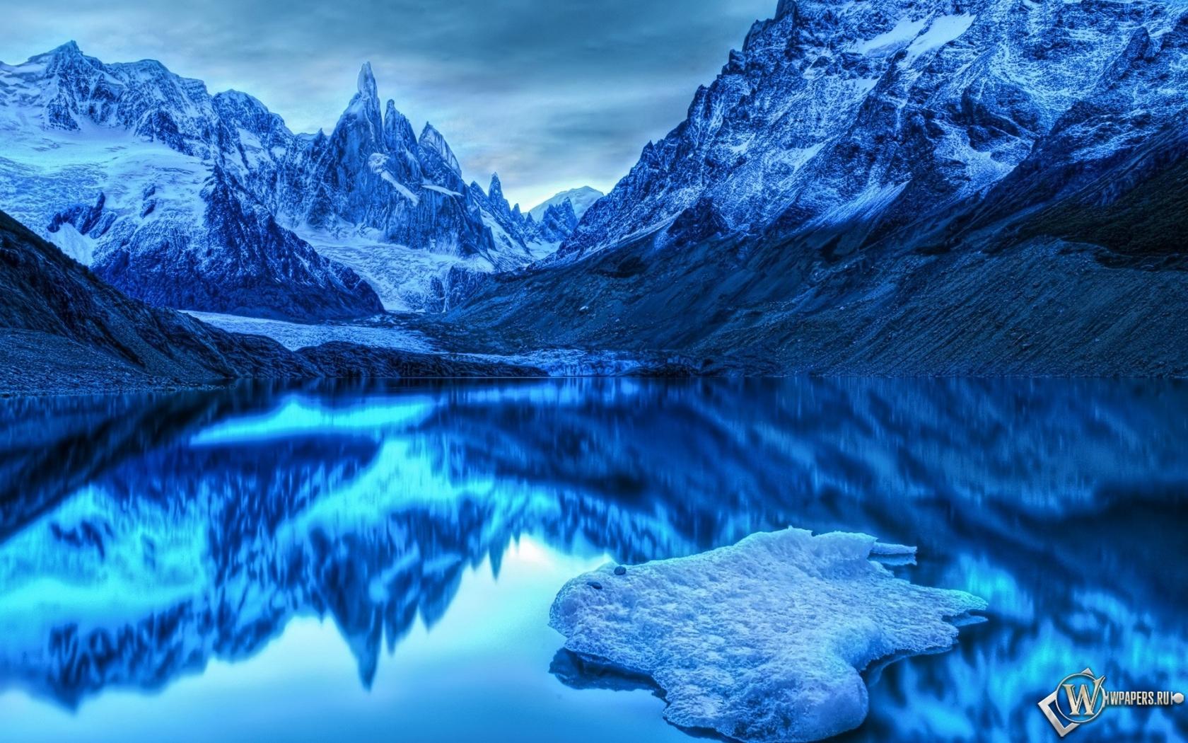 Обои холодное озеро на рабочий стол с