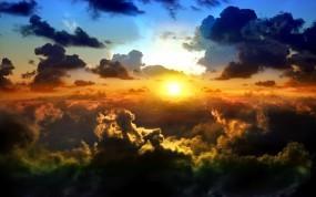 Обои Солнце над облаками: Облака, Солнце, Небо, Sky, Прочие пейзажи