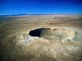 Обои Метеоритный кратер: Пустыня, Аризона, Кратер, Прочие пейзажи
