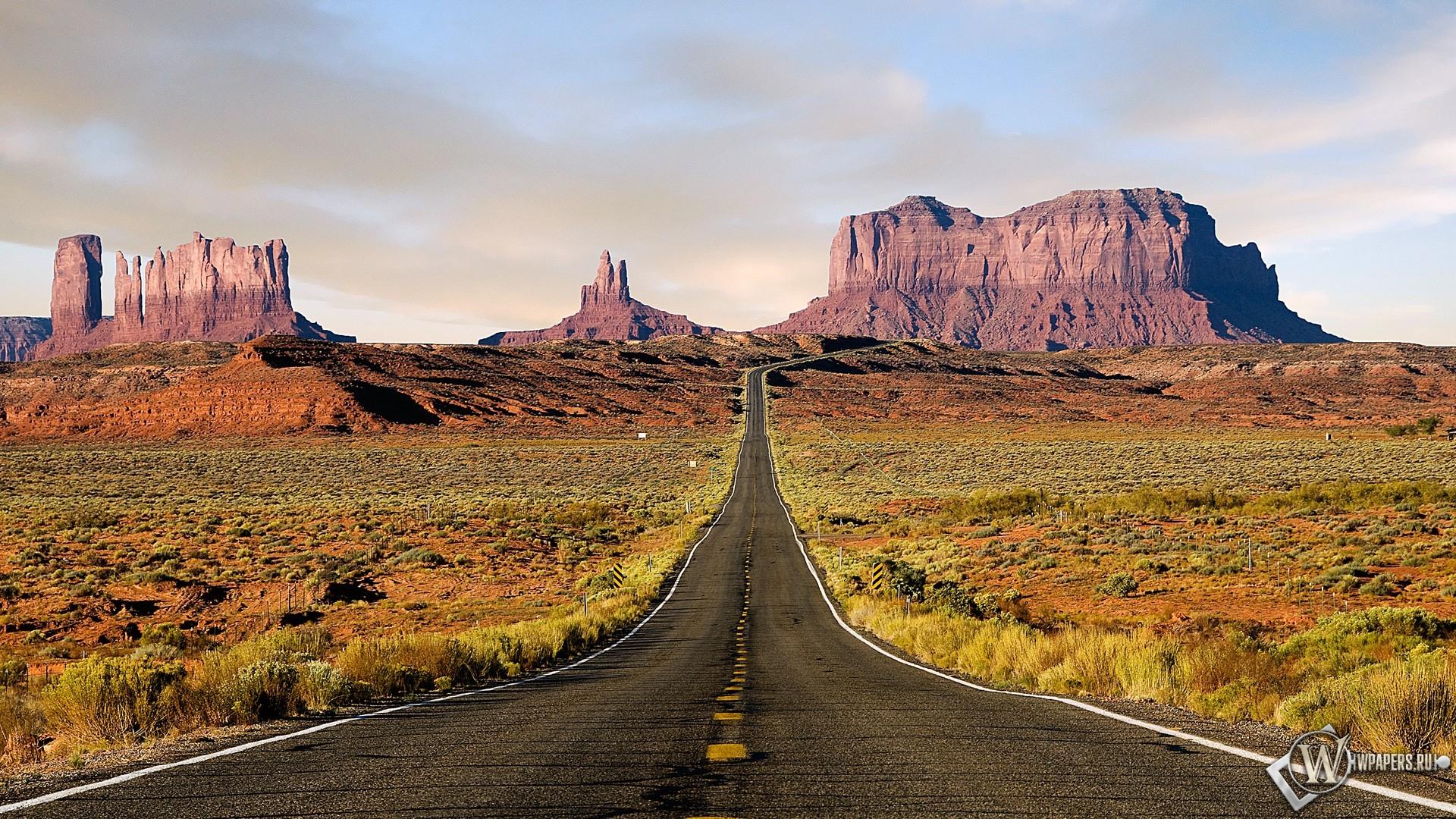 Дорога к скалам 1920x1080