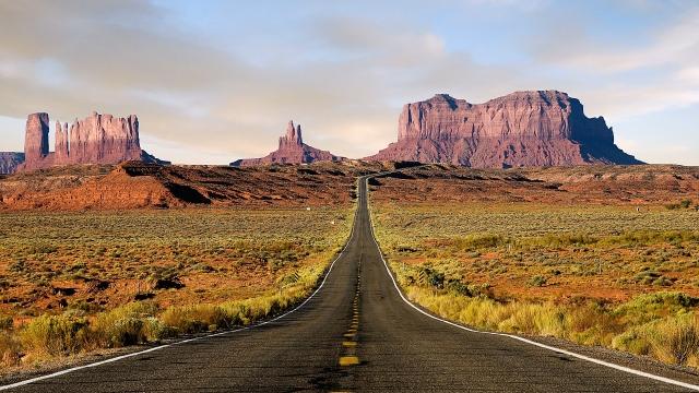 Дорога к скалам