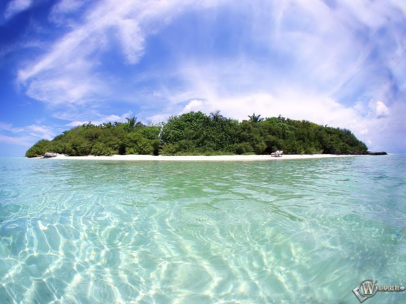 Обои остров остров relax 1400x1050