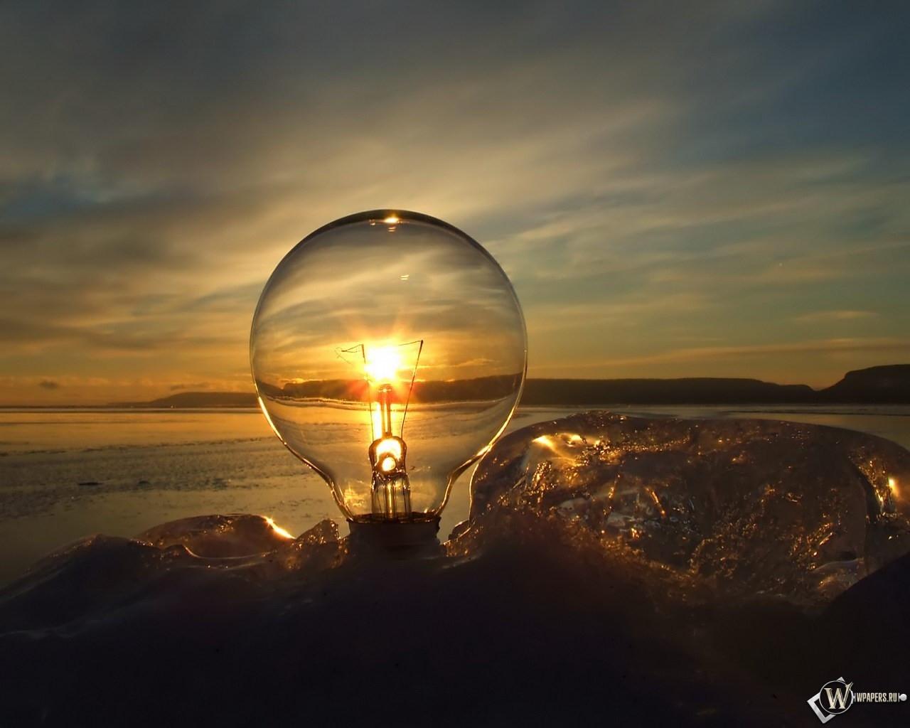 Солнечная лампа 1280x1024