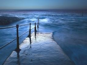 Обои Волнорез: Волны, Море, Волнорез, Прочие пейзажи